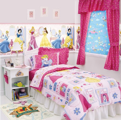 Desain Lucu Kamar Tidur Anak Perempuan
