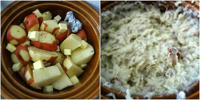 Crock Pot Roasted Garlic Mashed Potatoes