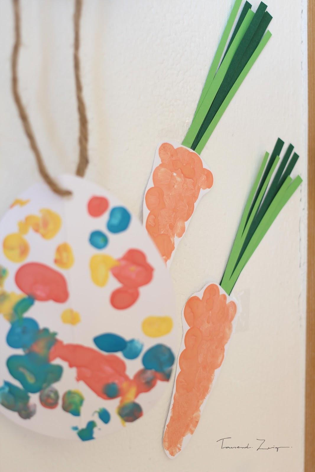 Fingerfarben Ideen Diy Idee Eine Blumenwiese Aus Fingerabdrucken