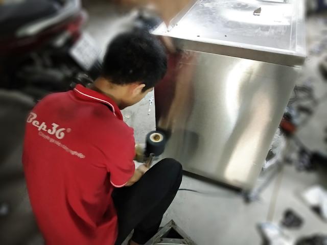 Gia công thiết bị bếp công nghiệp inox