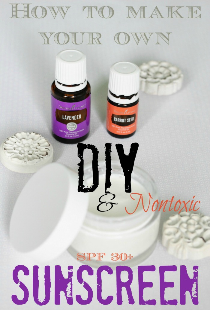Ditch the chemicals and make your own sunscreen!