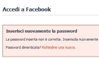 reimpostare password Facebook