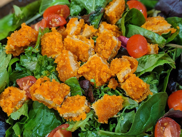 Vegetarian Buffalo Chicken Salad