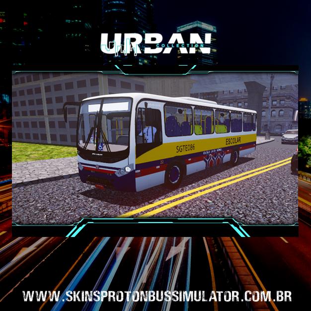 Skin Proton Bus Simulator - Senior Midi MB OF-1519 BT5 Colégio Santa Mônica