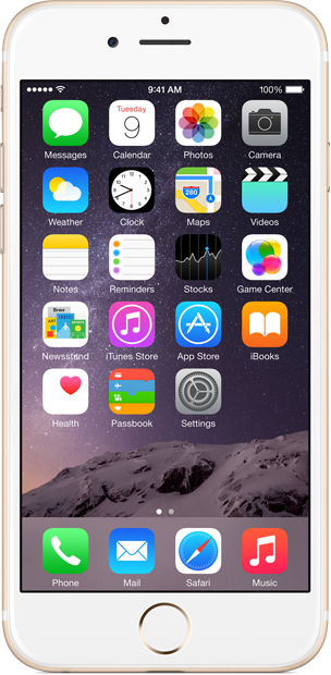 iPhone 6 normal view