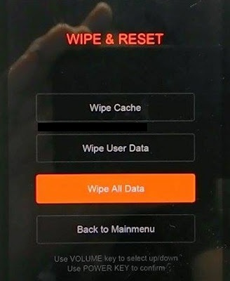 Factory Reset Xiaomi / Wipe data