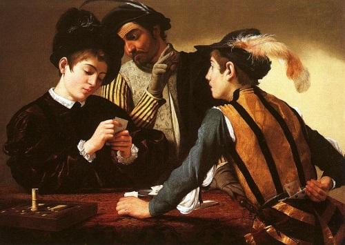 Os Trapaceiros, pintura de Michelangelo Merisi da Caravaggio.