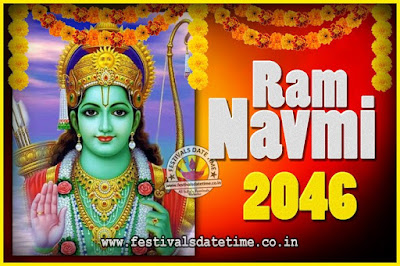 2046 Ram Navami Pooja Date & Time, 2046 Ram Navami Calendar