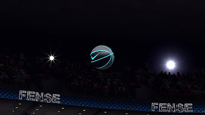 NBA 2K13 Outdoor Black Nike Basketball Blue Outline