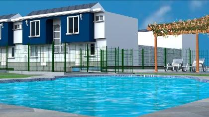 Casas zafiro dos niveles en sector con piscina venta de for Cama zafiro