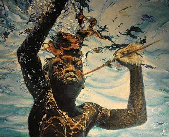 Британский художник. Fiona Wishman