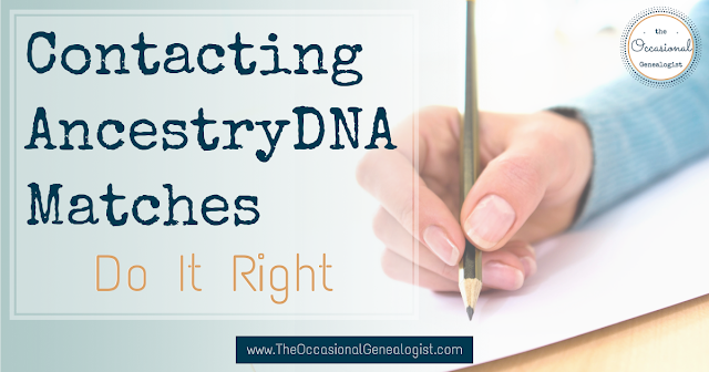 Contacting AncestryDNA Matches