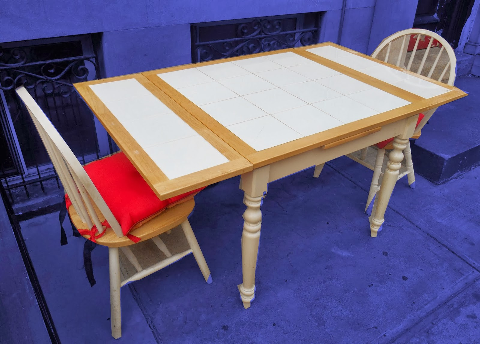 Uhuru Furniture & Collectibles: Tile-Top Dining Table W