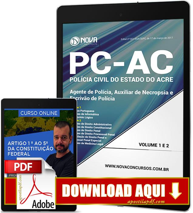 Apostila PC AC 2017 PDF Download Agente de Polícia Civil