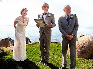 he first photo from the wedding of Patrick Stewart