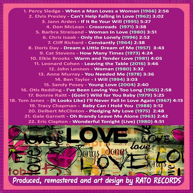 Cd LOVE SONGS FOREVER 1  Back