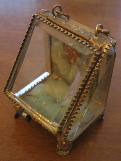 Antiques Martinez Antique Glass And Metal Display Case