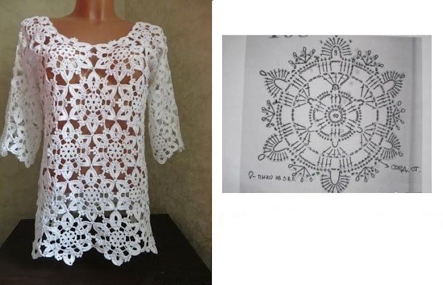 Bluzon de lujo a crochet para toda época
