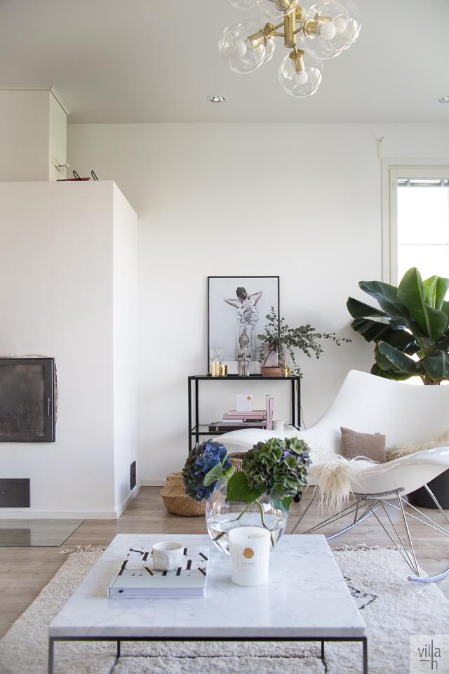 Villa H, interior, olohuone, sisustus