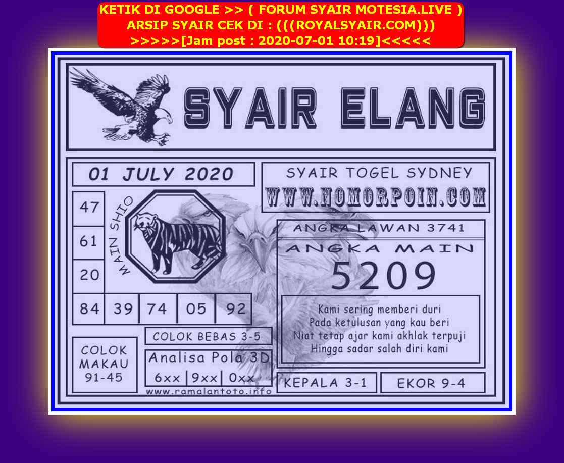 Kode syair Sydney Rabu 1 Juli 2020 211