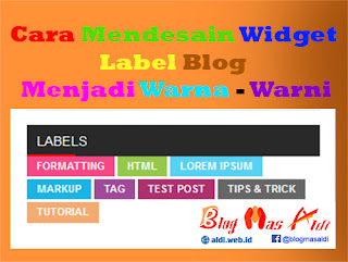 Widget Label Cloud Blog Warna Warni