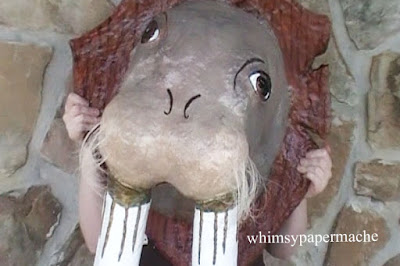Finished Walrus Head for decorating