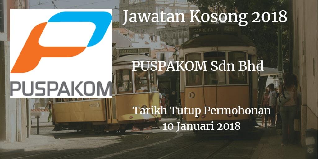 Jawatan Kosong PUSPAKOM Sdn Bhd 10 Januari 2018
