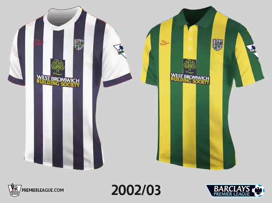 All 20 teams 39 first premier league kits footy headlines for Kit west homes