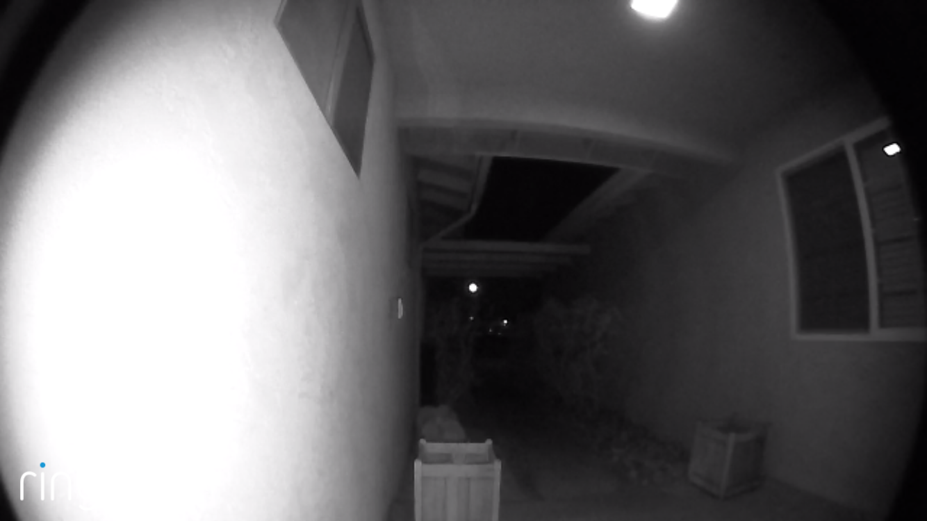 Ring Video Doorbell at Night