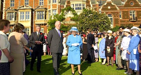 Rainha Elizabeth em Sandringham House