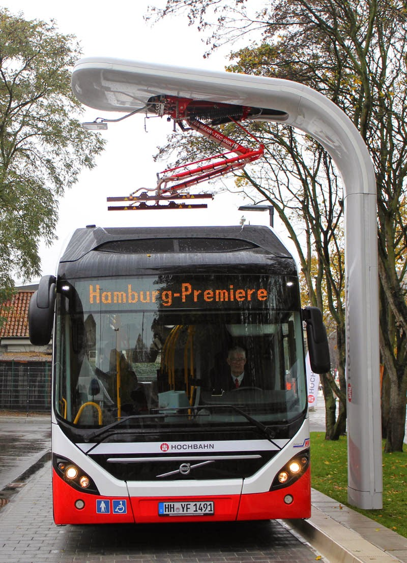 Volvo Hybrid Bus With Siemens Fast Charging System Starts