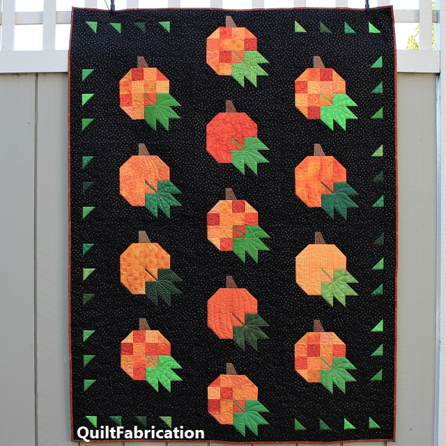 Pumpkin Harvest Quilt by QuiltFabrication