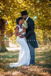 PHOTOS: Unseen Wedding Photos Of JJC Skillz And Funke Akindele-Bello Released As They Celebrate 1 Year Anniversary