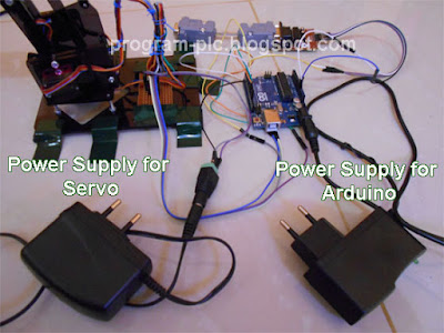 Power Supply for Servo and Arduino
