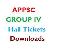 APPSC Group 4 Hall Tickets 2014