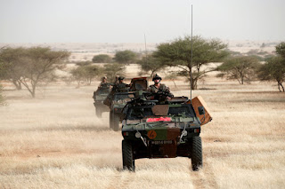 Operation Barkhane; French military VBL on patrol in the Sahel
