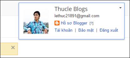 quản lí hồ sơ blogger