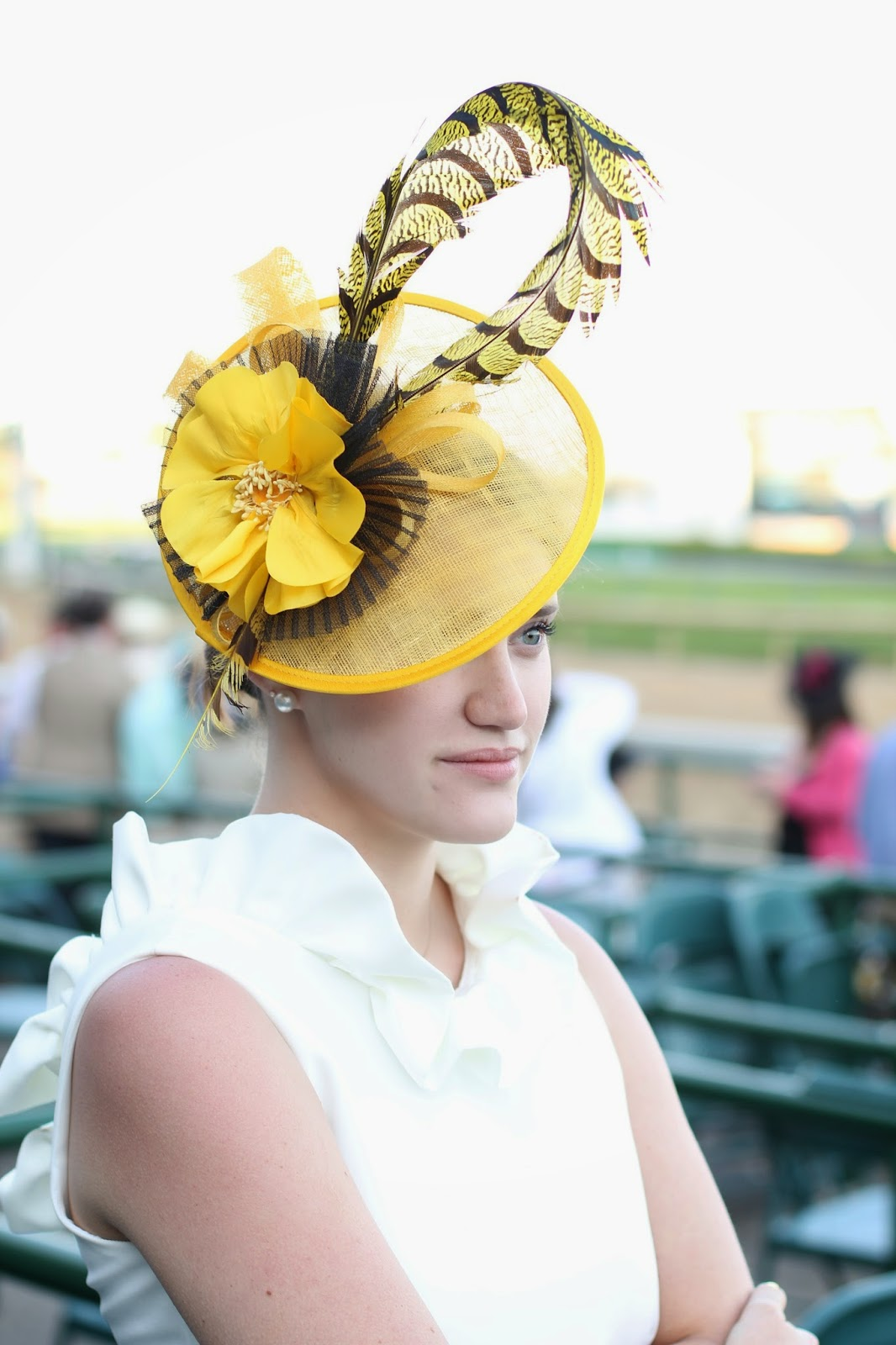 camilyn beth, headcani hat, headcandi fascinator, Kentucky derby hat
