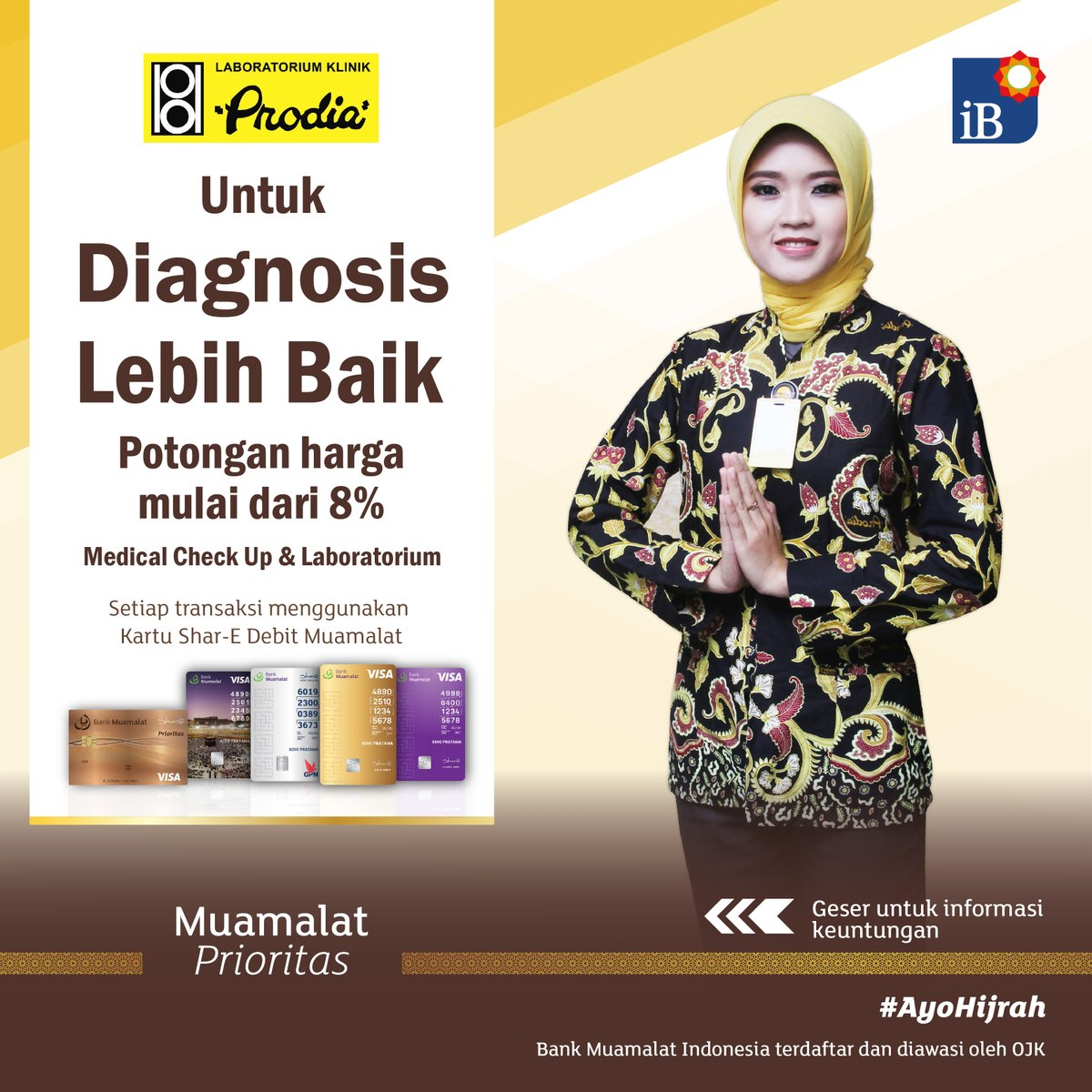 Bank Muamalat - Promo Diskon Mulai 8% Medical Check Up & Laboratorium di Prodia