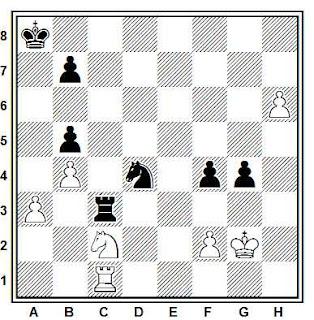 Posición de la partida de ajedrez Karls - Farago (Amsterdam, 1987)
