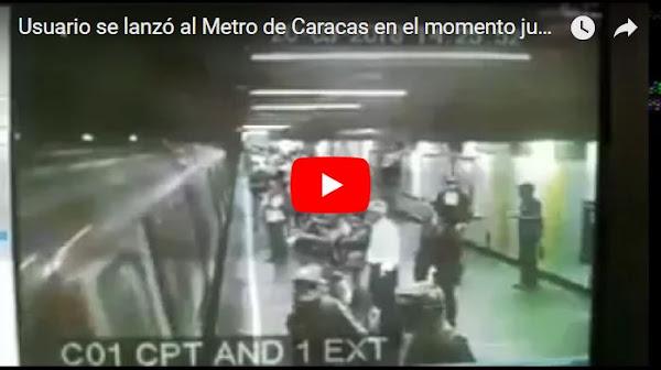 Se mató lanzándose a las vías del metro y quedó grabado
