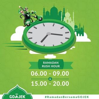 Rush Hour Gojek saat Ramadhan 2016, Rush Hour Gojek saat puasa 2016, rush hour gojek terbaru