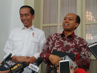 Sutopo Akhirnya Bersalaman Dengan Presiden Jokowi