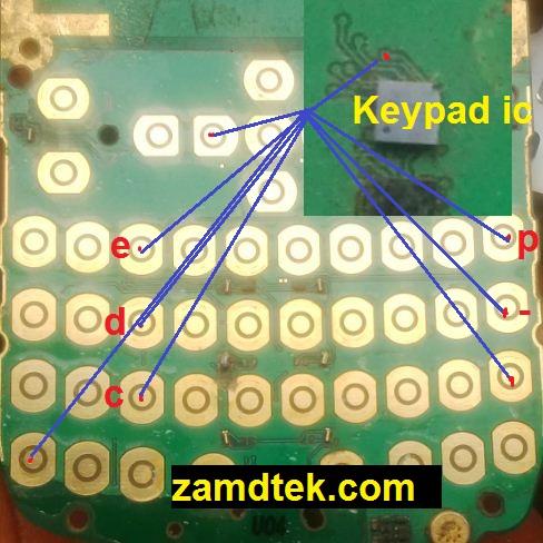 Nokia X2-01 or Nokia X2 e, d, c,,,p keypads solution