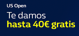 William Hill 40 euros gratis US Open 2017 28-29 agosto