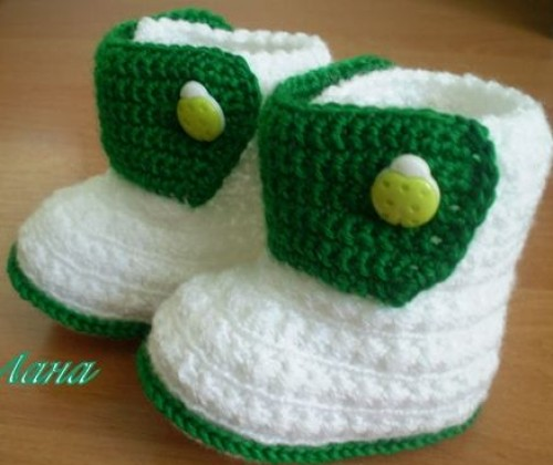 Crochet Baby Booties - Free Pattern