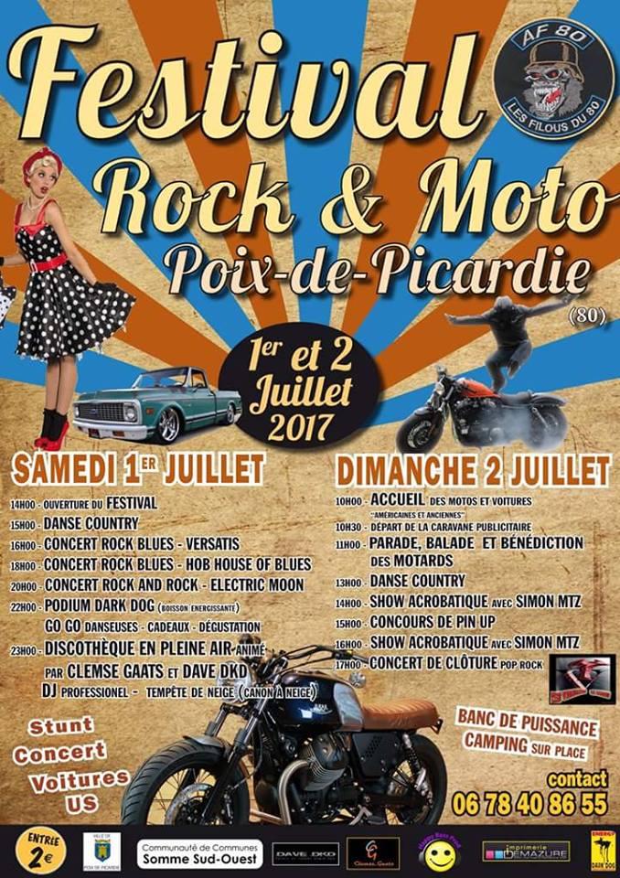 Motorbike Event France Festival Rock Moto Poix De Picardie 80