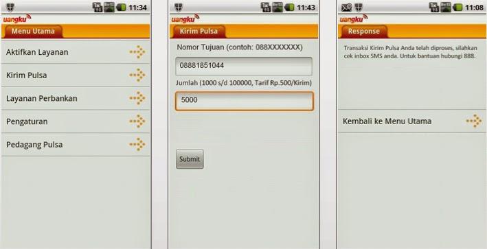 Cara Transfer Pulsa SmartFren Aplikasi Uangku