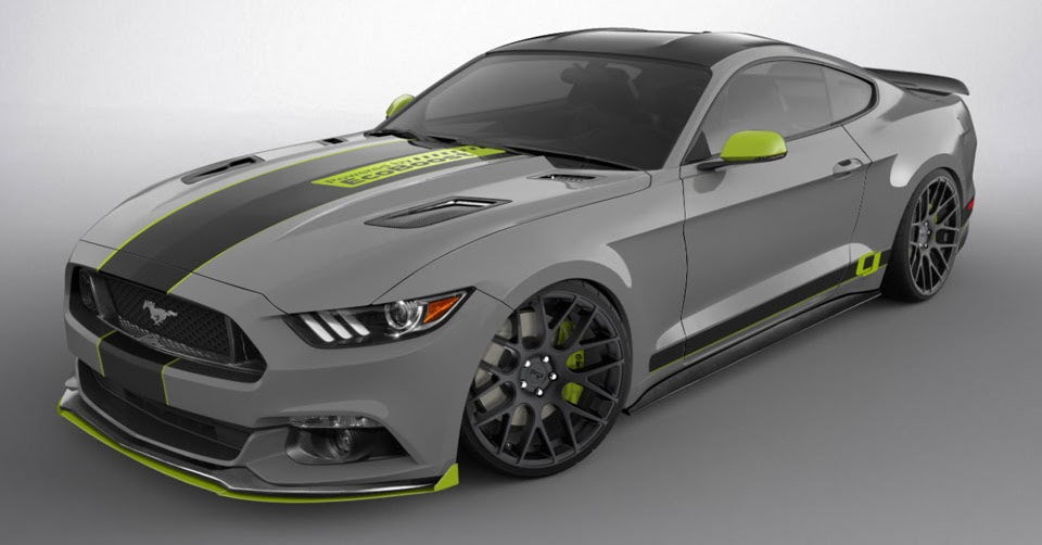 six customized ford mustangs shape up for sema. Black Bedroom Furniture Sets. Home Design Ideas