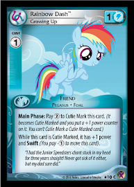 My Little Pony Rainbow Dash, Growing Up Marks in Time CCG Card